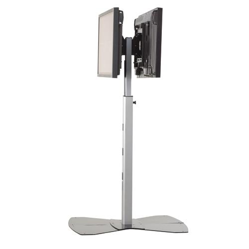 Medium Flat Panel Dual Display Floor Av Stand Legrand Av