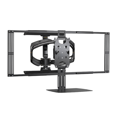 Large Thinstall Dual Swing Arm Wall Display Mount 25
