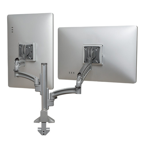 Kontour™ K1C Dual Monitor Dynamic Column Mount, Reduced Height