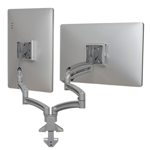 Kontour™ K1D Dual Monitor Dynamic Desk Mount, Extended Reach