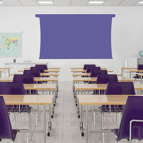 Classroom with projection