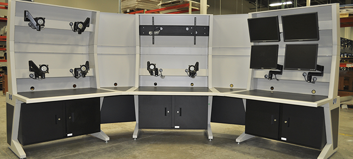 Console with Chief monitor mounts