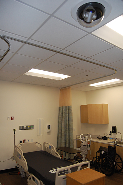 Vaddio camera above medical lab designed for education.