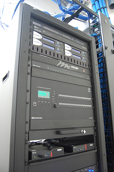 Rack with Vaddio and Middle Atlantic equipment.