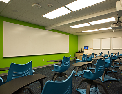 Classroom with Idea Screen
