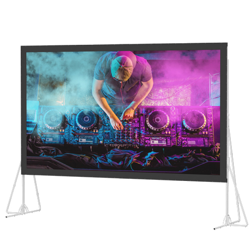 Portable rental and staging projection screens