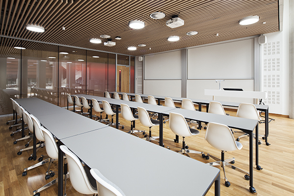 Classroom with projectors