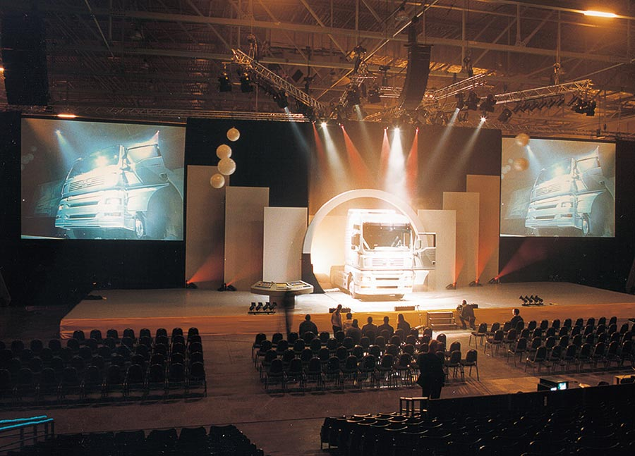 Live event production using Da-Lite Fast-Fold Deluxe