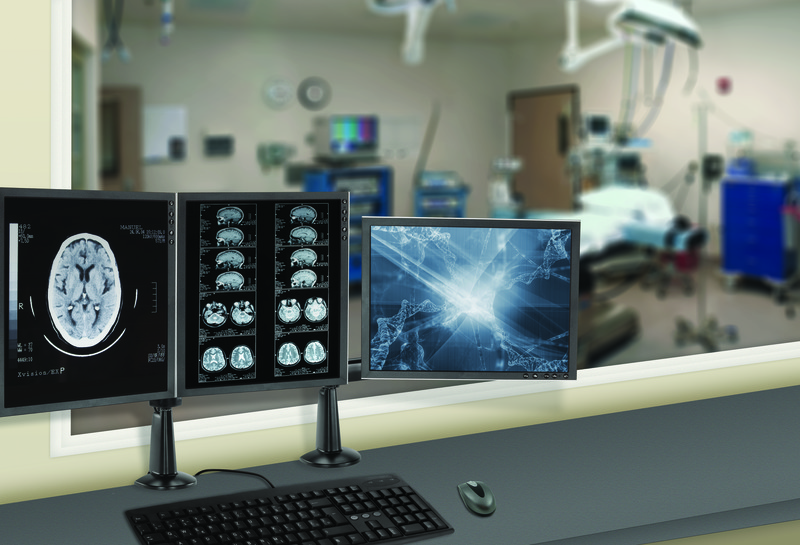 Chief display mounts in a healthcare application
