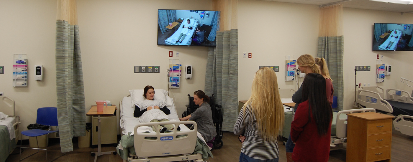 Healthcare training program uses PTZ cameras and AV equipment so all students can view the procedures