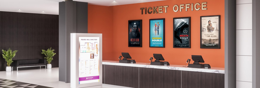 digital signage at ticket office